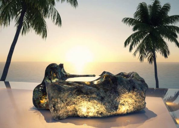 Gemstone Bath sculpture | Sculptor Jan-Carel Koster